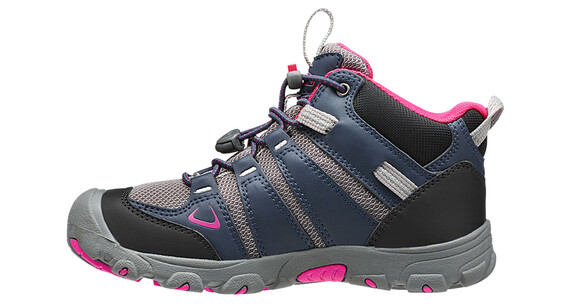 Keen Oakridge Mid WP Shoes Youth Dress Blues/Very Berry